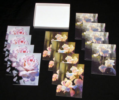 Floral Card Collection Display